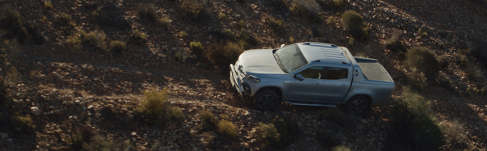 The X-Class heads off-road with Michael Turtle.